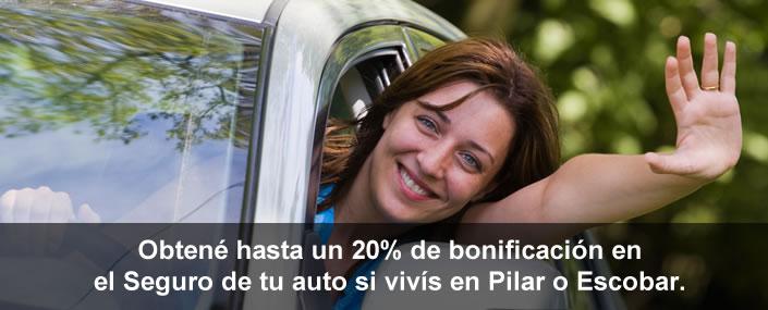 Bonificación del 20% en tu seguro de auto